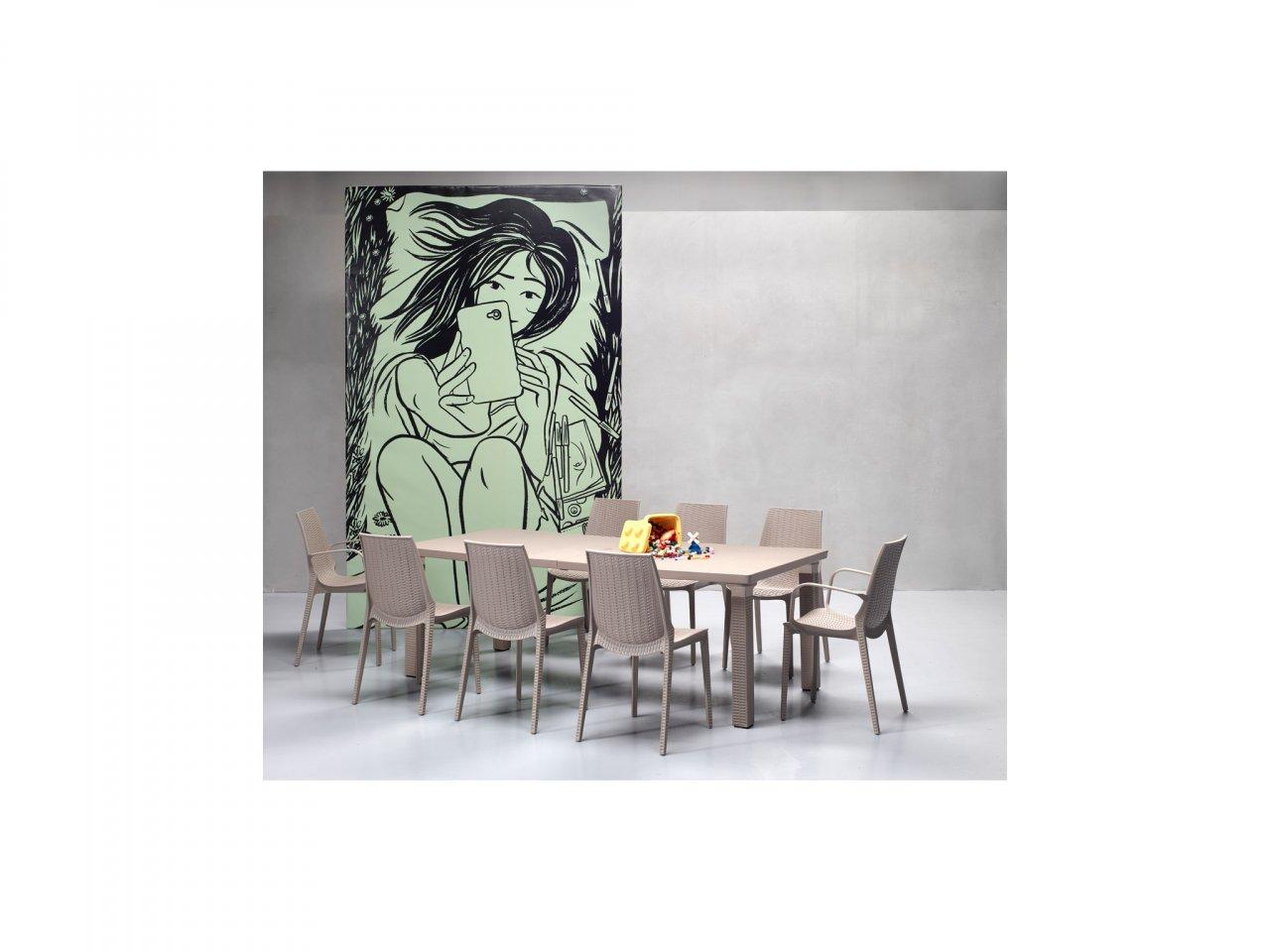 Sedia Con Braccioli Lucrezia - v11